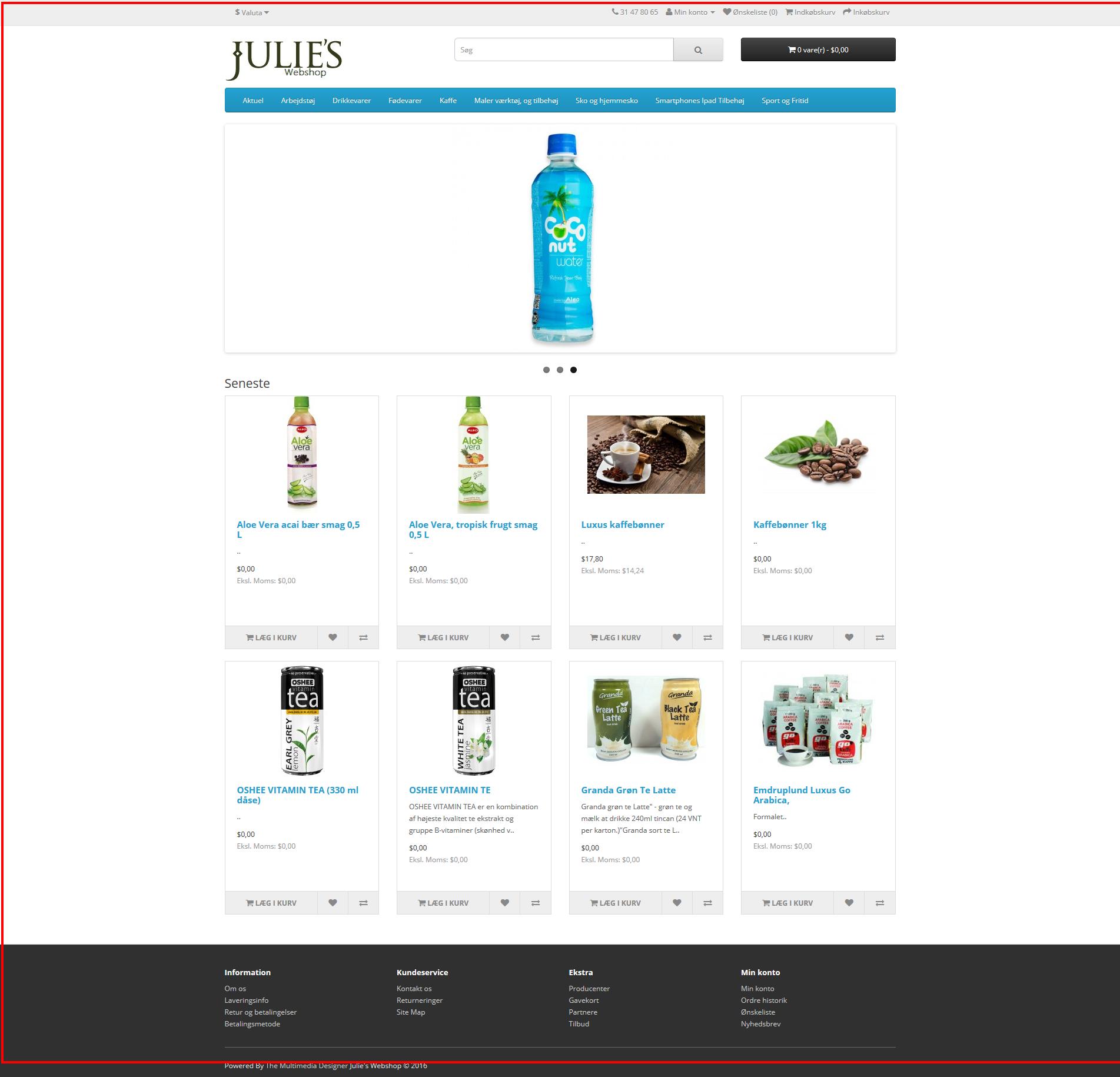 Julie's Webshop
